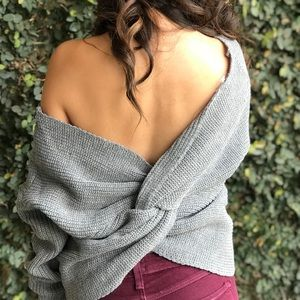 New ✨ Twist Back Sweater